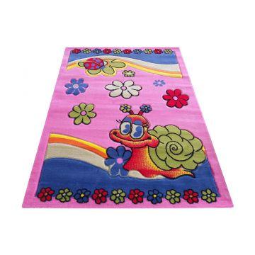 Dywan Enfants 01 - różowy- dziecięcy- ślimaczek