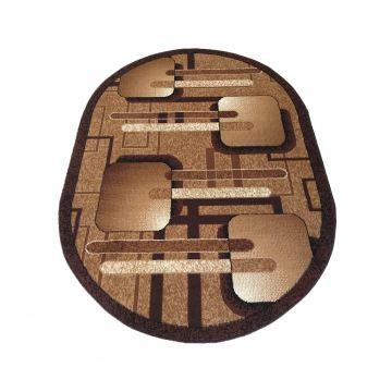 Dywan  nowoczesny BCF Ankara  16 owalny brązowy