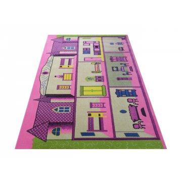 Dywan Enfants 15 - fioletowy- dziecięcy- dla dziewczynki- domek dla lalek
