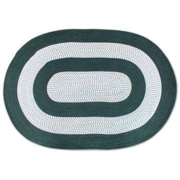 Dywan Corda owalny - zielony- sznurkowy- sizal