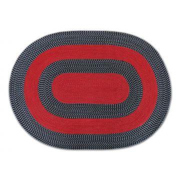 Dywan Corda owalny - czerwony- sznurkowy- sizal