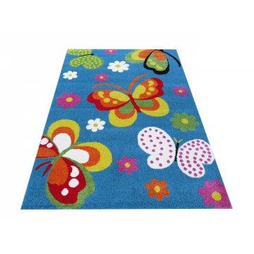 Dywan dla dzieci Bambino 14 - niebieski motyle