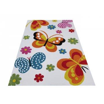 Dywan dla dzieci Bambino 14 - kremowy- motyle