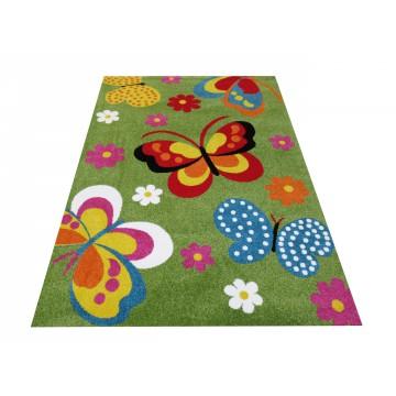 Dywan dla dzieci Bambino 14 - zielony motyle
