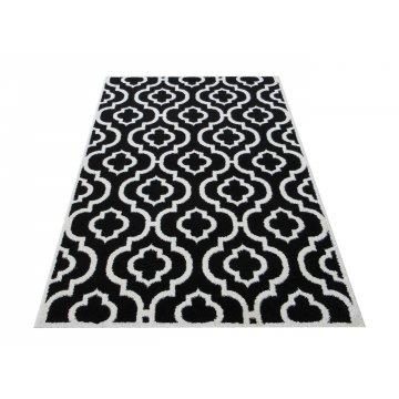 Dywan nowoczesny ekskluzywny Modern 02 - czarny-koniczyna