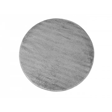 Dywan jednolity  jednokolorowy Uncolore koło - szare (N)
