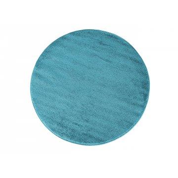 Dywan jednolity jednokolorowy Uncolore koło - niebieskie (N)