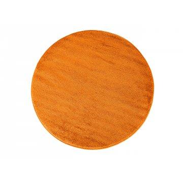 Dywan jednolity jednokolorowy Uncolore koło - pomarańczowe (N)