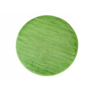 Dywan jednolity jednokolorowy Uncolore koło - zielone (N)