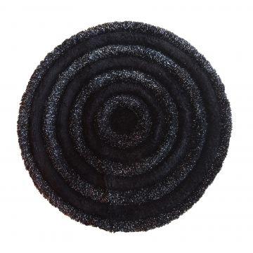 Dywanik Prestigio Czarny 90 cm- pluszowy- koło