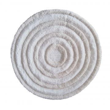 Dywanik Prestigio Ecru 90 cm- pluszowy- koło