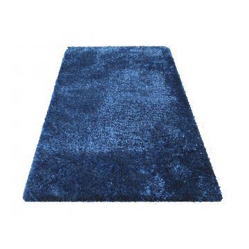 Dywan SOFT typu shaggy niebieski pluszowy- długi włos