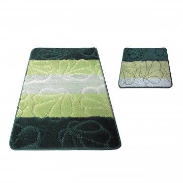 Dywaniki łazienkowe Monako 01 - zielone- antypoślizgowy