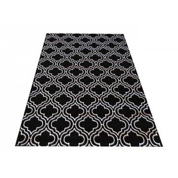 Dywan nowoczesny Sottile 01 czarno-biały- koniczyna