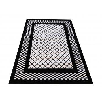 Dywan nowoczesny Sottile 03 czarno-biały- geometryczny