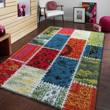 Dywan nowoczesny Somero 06- kolorowy Patchwork