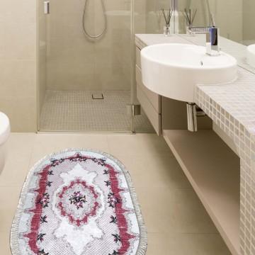 Dywanik antypoślizgowy Vaso 06 Czerwone- do kuchni i łazienki