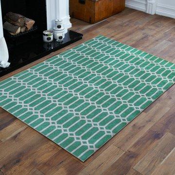 Dywan antypoślizgowy nowoczesny zielony- Universal 03- do prania