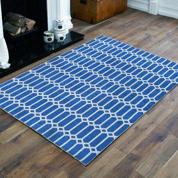 Dywan antypoślizgowy nowoczesny niebieski Universal 03- do prania