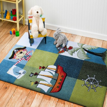 Dywan dla dzieci Bambino 01-chłopięcy, piraci