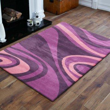 Dywan nowoczesny Bueno 05S - fioletowy
