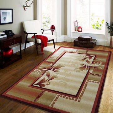 Dywan Classic 02 - czerwony- klasyczny- nowoczesny