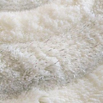 Dywan Prestigio Biały 90 cm- pluszowy-koło
