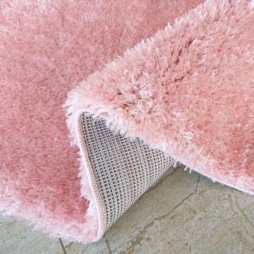 Dywan SOFT typu shaggy pudrowy róż pluszowy- długi włos
