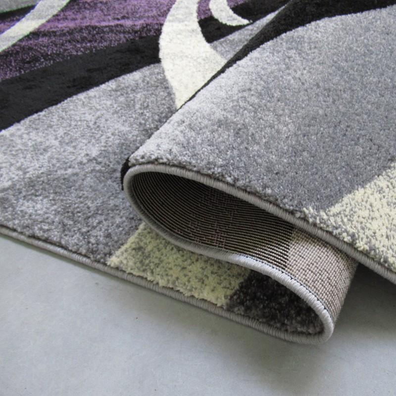 Dywan nowoczesny Bueno 02 - szaro-fioletowy