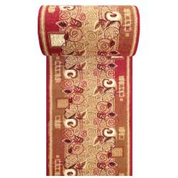 Chodnik klasyczny BCF Ankara  11 - czerwony - 60 - 120 cm- liście
