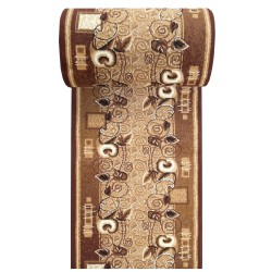 Chodnik klasyczny BCF Ankara  11  brązowy - 60 - 120 cm- - liście