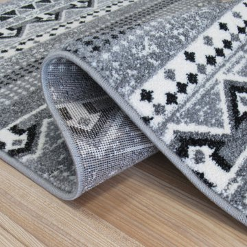 Chodnik dywanowy Odyn 01 - szary - 60 - 150cm- nowoczesny