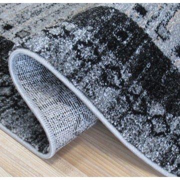 Chodnik dywanowy Odyn 04 - szary - 60 - 150cm- nowoczesny