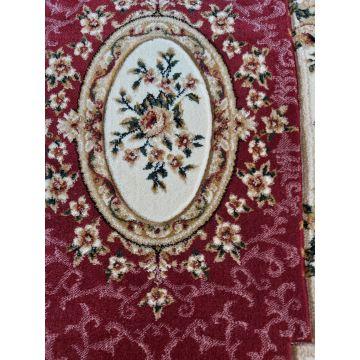 Dywan Classic 06 - czerwony- róże- klasyczny- tradycyjny