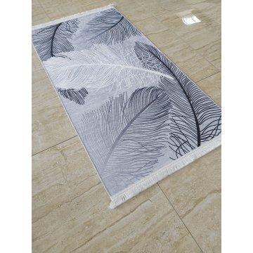 Dywan antypoślizgowy nowoczesny szary piórka UNIVERSAL 07- do prania