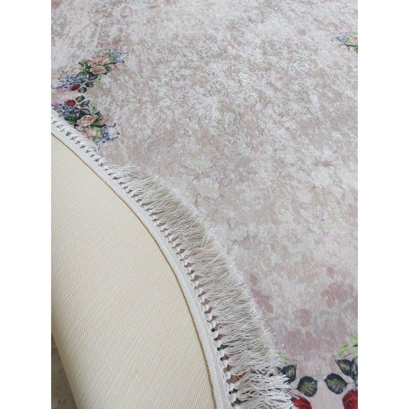 Dywan antypoślizgowy klasyczny owalny Universal  05 owalny - pudrowy-do prania