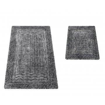 Komplet dywaników łazienkowych Berlin 01N szary