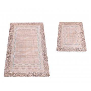 Komplet dywaników łazienkowych Berlin 01N Pudra