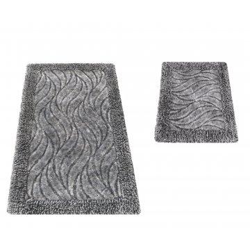 Komplet dywaników łazienkowych Berlin 03N szary