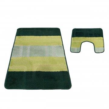 Dywaniki łazienkowe -Monako 04N zielone- antypoślizgowe
