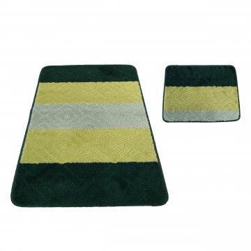 Dywaniki łazienkowe- Monako 03N zielone- antypoślizgowe