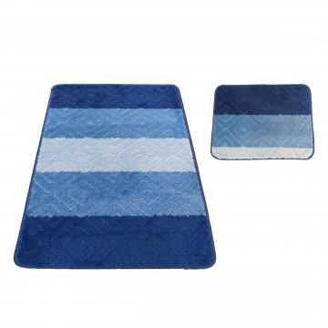 Dywaniki łazienkowe- Monako 03N niebieskie- antypoślizgowe