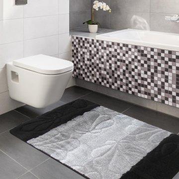 Dywaniki łazienkowe Monako 01 - czarne-antypoślizgowy