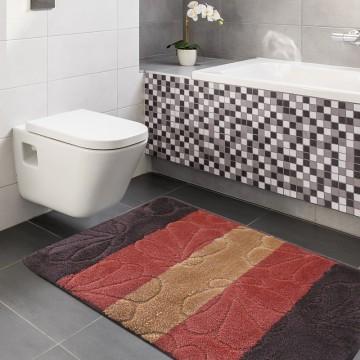 Dywaniki łazienkowe Monako 01 - brązowe-antypoślizgowy