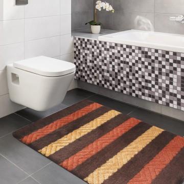 Dywaniki łazienkowe Monako 02 - brązowe- antypoślizgowy
