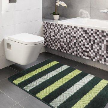 Dywaniki łazienkowe Monako 02 - zielone- antypoślizgowy