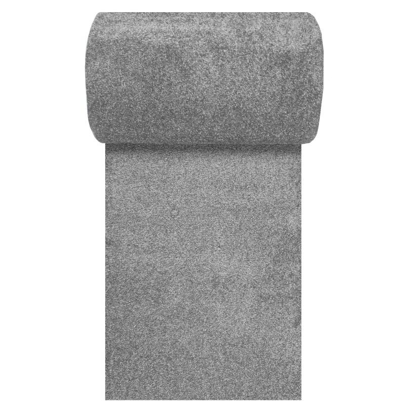 Chodnik dywanowy Uncolore -N- jednolity - szary
