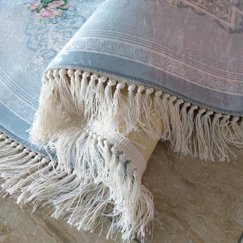 Dywan antypoślizgowy klasyczny owalny Universal  05 - niebieski do prania