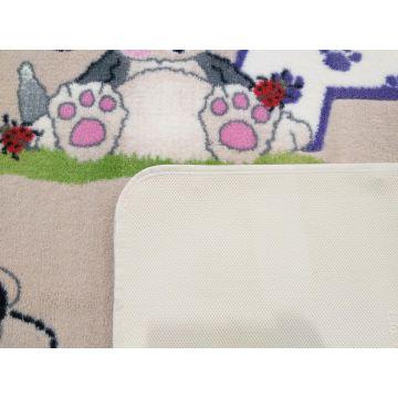Dywan dla dzieci Kiddie 06 - literki i pieski- z certyfikatem