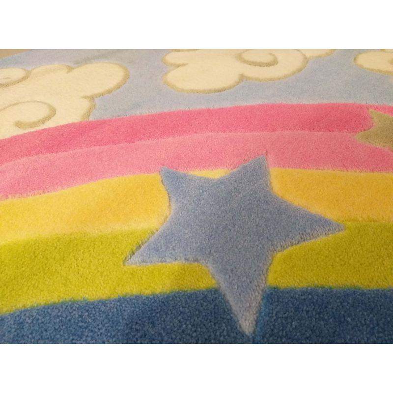 Dywan dla dzieci Kiddie 02 - tęcza- z certyfikatem